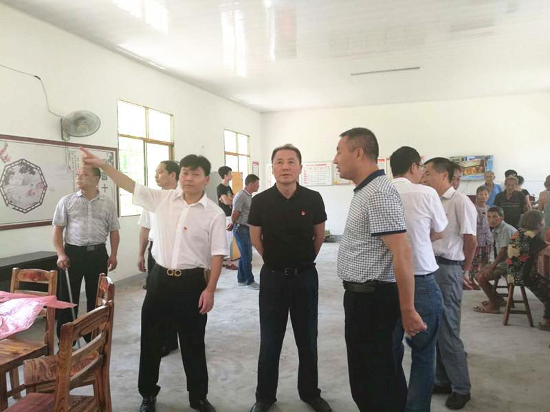 新余市检察院挂点帮扶的琴山村委老屋村小组颐养之家开张